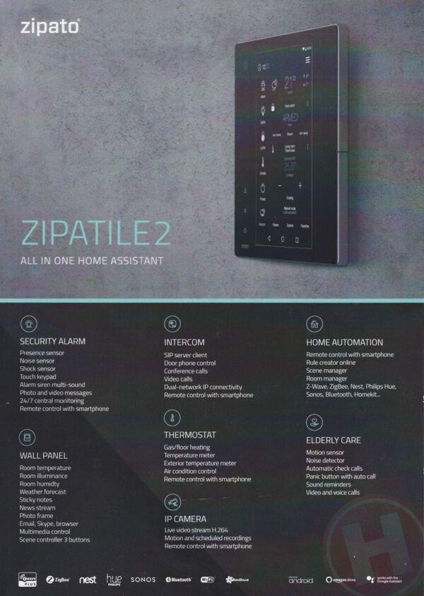 Zipatile 2 Protingo namo valdiklis Z-Wave