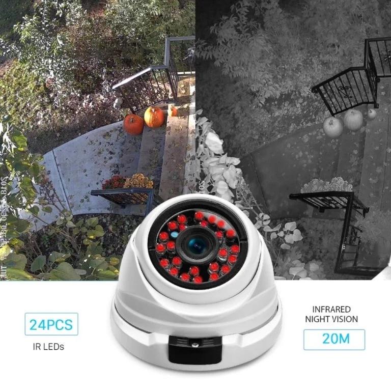 5MP Dome vaizdo kamera balta