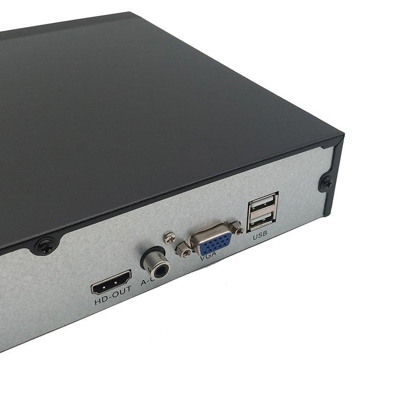 4 x IP POE vaizdo kamerų įrašymo įrenginys