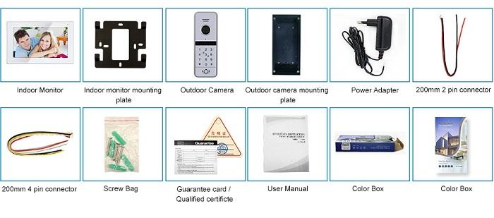 Domofono komplektas Wi-Fi IC kortelės SmartHome