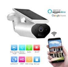Vaizdo kamera 1080P WiFi SOLAR balta 1,5W
