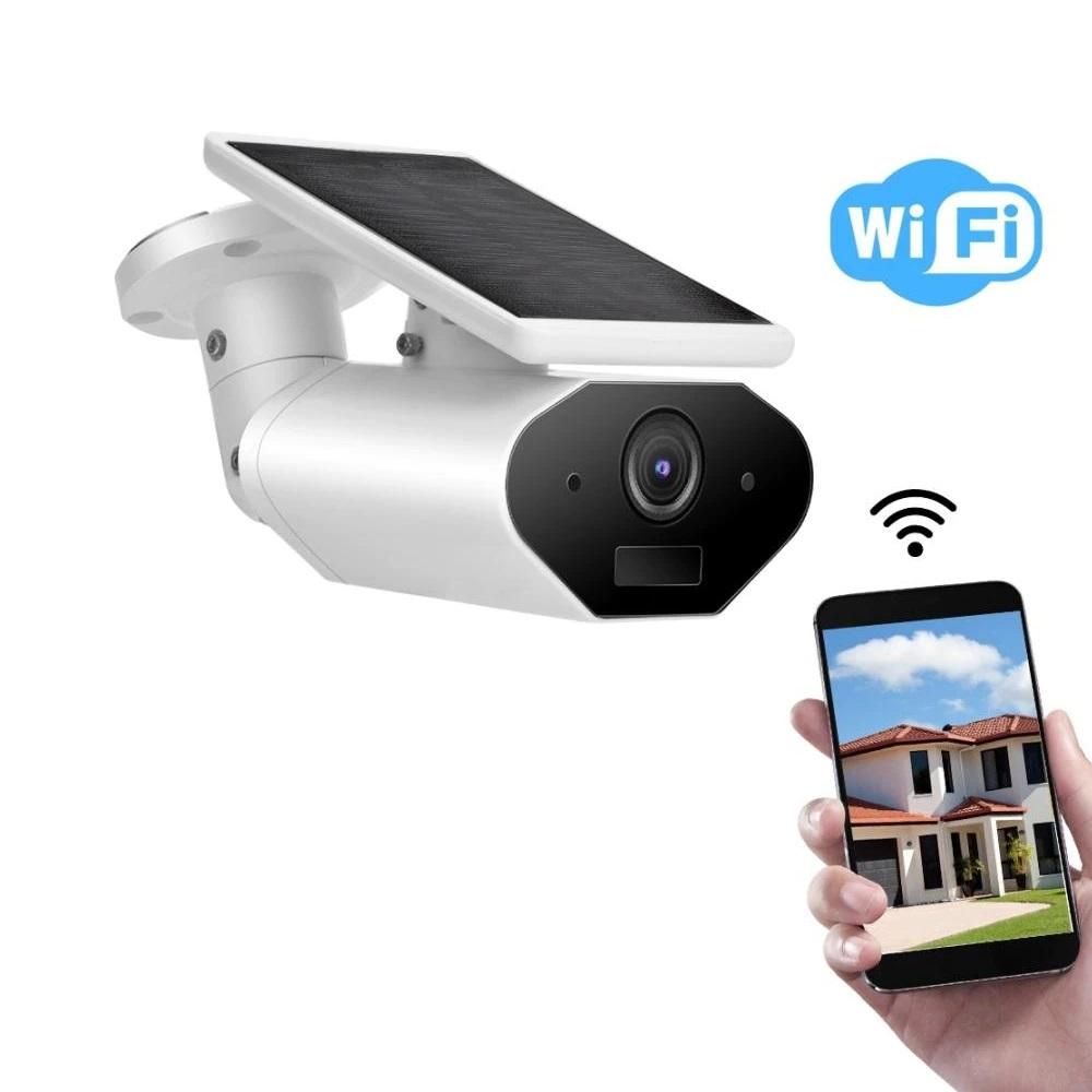 Vaizdo kamera 1080P WIFI -SOLAR balta 1,5W