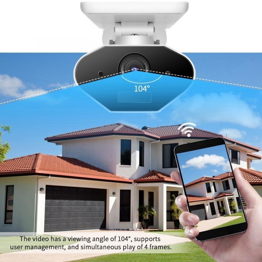 Vaizdo kamera WiFi SOLAR balta 1,5W rw